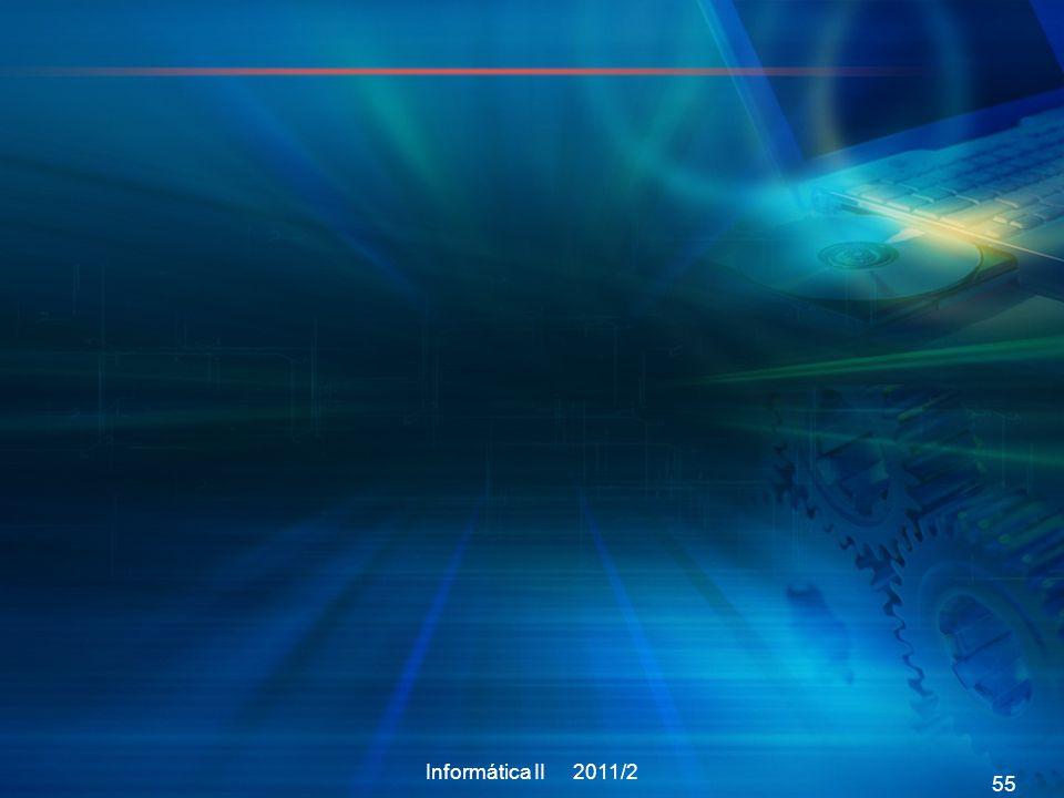 Informática II 2011/2 55