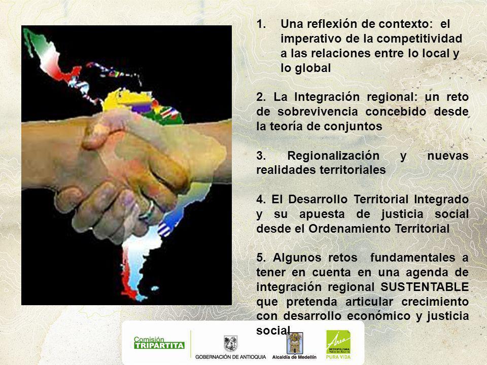 1.Una reflexión de contexto: el imperativo de la competitividad a las relaciones entre lo local y lo global 2.