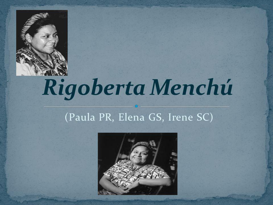 Fecha de nacimiento: 9 de Enero 1959 Nacionalidad: Guatemala Profesión: Farmacéutica Elisabeth Burgo escribió su libro biográfico, Me llamo Rigoberta Menchú