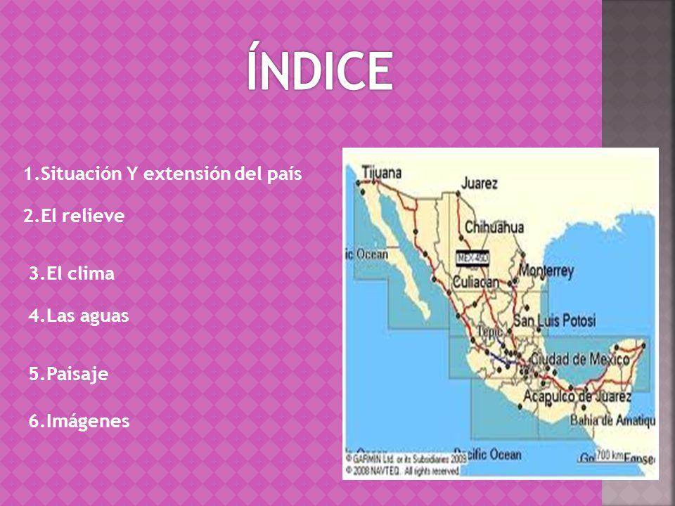 México es un país situado en la parte meridional de América del Norte.