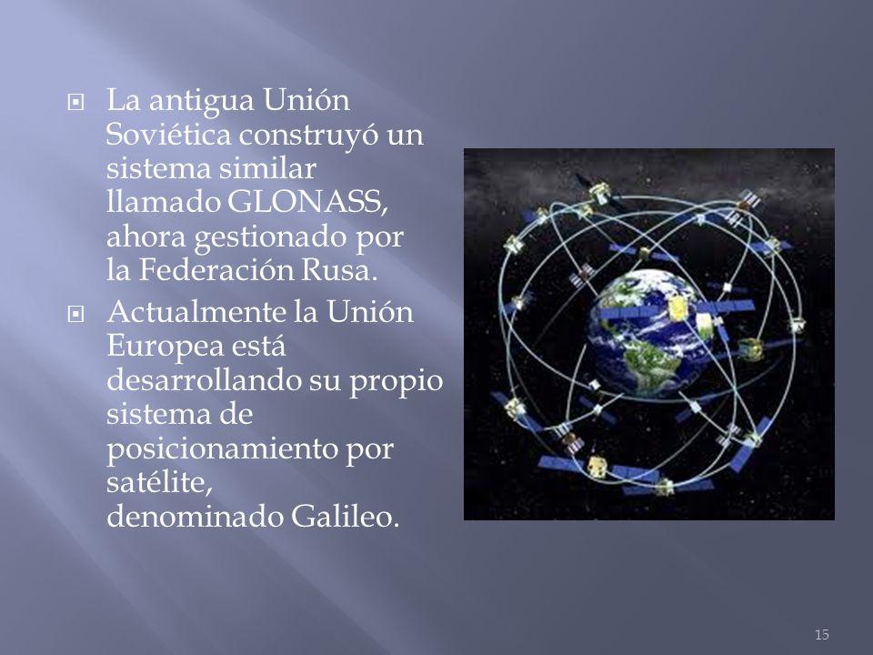 La antigua Unión Soviética construyó un sistema similar llamado GLONASS, ahora gestionado por la Federación Rusa. Actualmente la Unión Europea está de