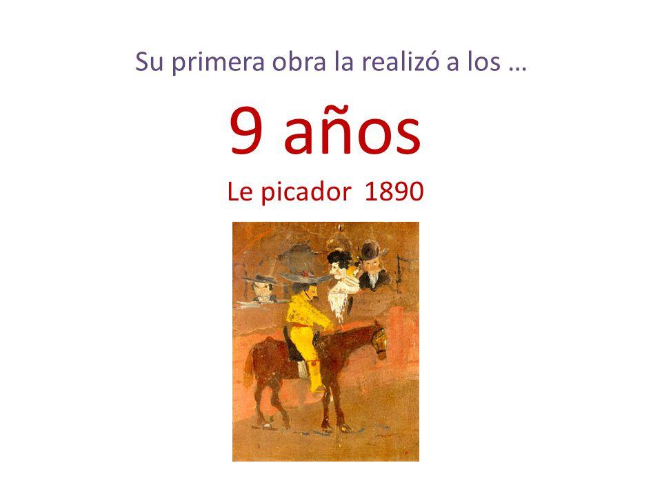 La primera palabra de Picasso fue … Piz La palabra corta para lápiz en algunas regiones de España