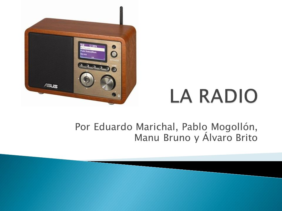 Es un medio de comunicación que se basa en el envío de señales de audio a través de ondas de radio.