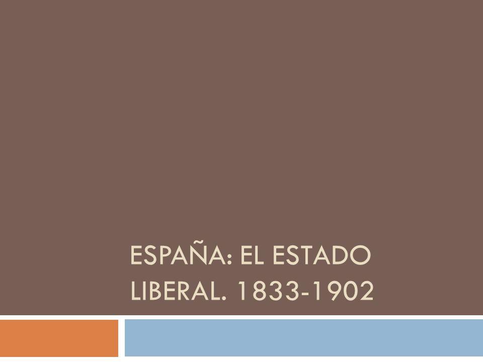 Características generales Políticas: Se aplicaron los principios liberales, pero siguieron los conflictos: guerras carlistas y pérdidas coloniales.