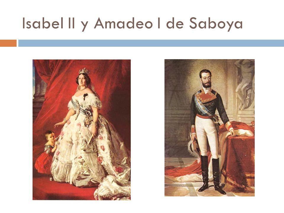 Isabel II y Amadeo I de Saboya