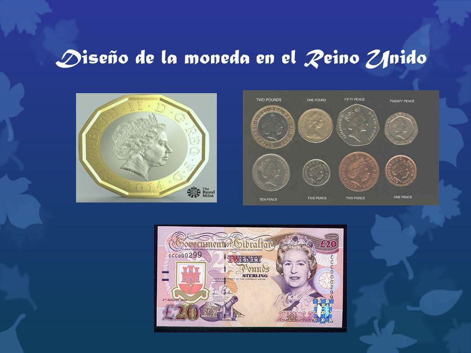 Diseño de la moneda en el Reino Unido