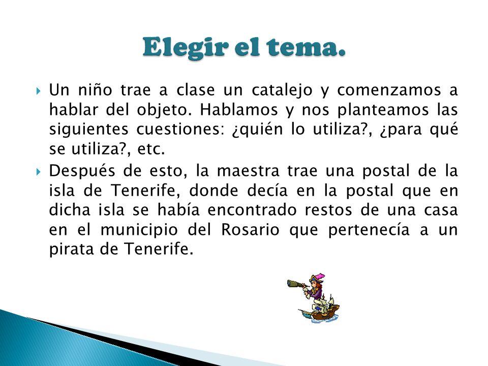 Un niño trae a clase un catalejo y comenzamos a hablar del objeto. Hablamos y nos planteamos las siguientes cuestiones: ¿quién lo utiliza?, ¿para qué