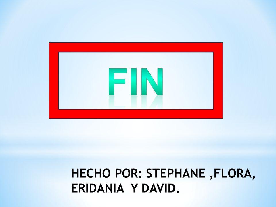 HECHO POR: STEPHANE,FLORA, ERIDANIA Y DAVID.
