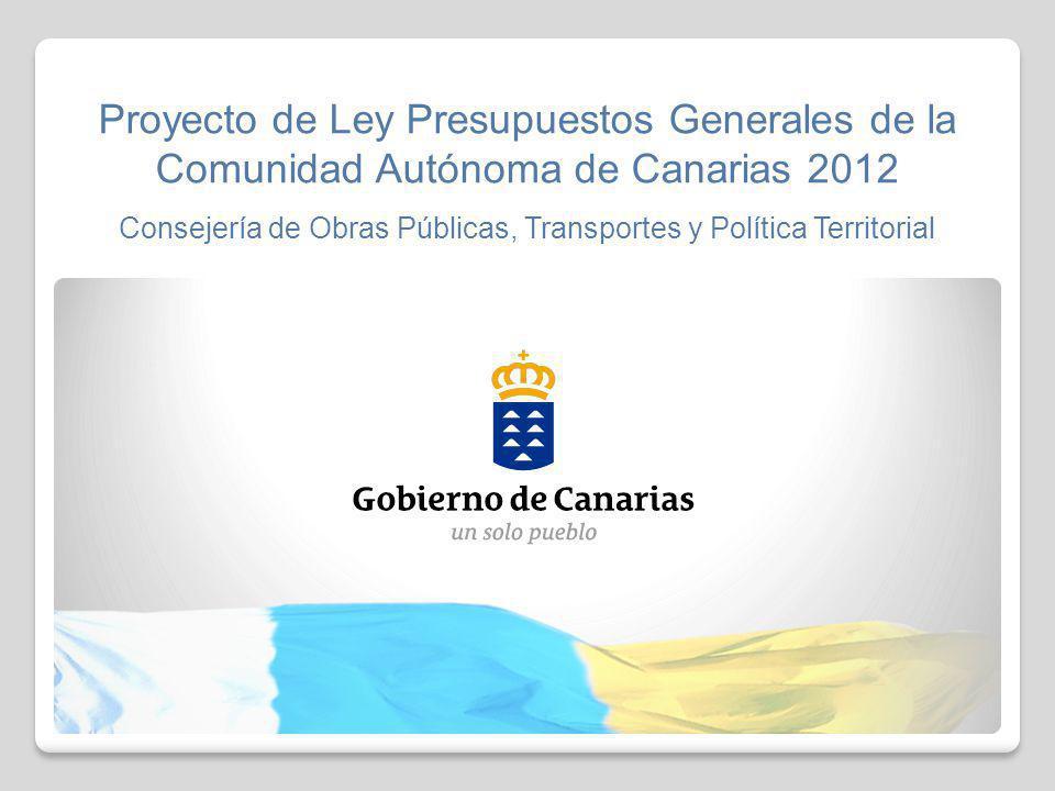 Proyecto de Ley Presupuestos Generales de la Comunidad Autónoma de Canarias 2012 Consejería de Obras Públicas, Transportes y Política Territorial 11 DISTRIBUCIÓN POR ISLAS DE TRANSFERENCIAS E INVERSIONES 723.280 24.456.462 71.678.403 6.100.540 38.245.918 47.133.000 88.866.902 32.196.948