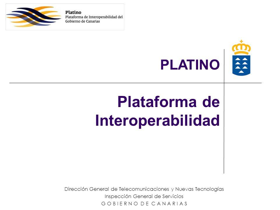 Plataforma de Interoperabilidad Dirección General de Telecomunicaciones y Nuevas Tecnologías Inspección General de Servicios G O B I E R N O D E C A N