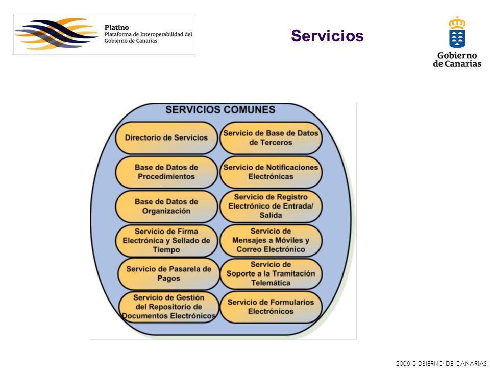 2008 GOBIERNO DE CANARIAS Servicios