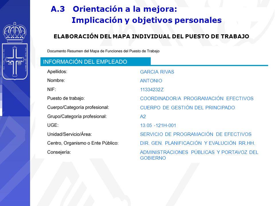 GARCIA RIVAS ANTONIO 11334232Z COORDINADOR/A PROGRAMACIÓN EFECTIVOS CUERPO DE GESTIÓN DEL PRINCIPADO A2 13.05 -121H-001 SERVICIO DE PROGRAMACIÓN DE EFECTIVOS DIR.