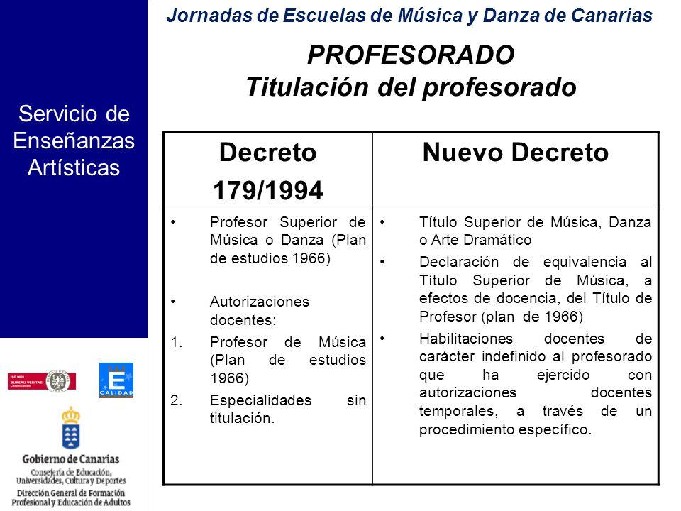 Servicio de Enseñanzas Artísticas PROYECTOS DE CENTRO El Proyecto de Escuela.
