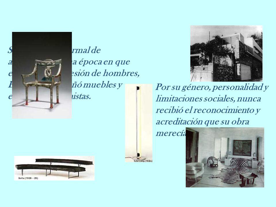 Sin formación formal de arquitecto, en una época en que esa era una profesión de hombres, Eileen Gray diseñó muebles y edificios modernistas. Por su g