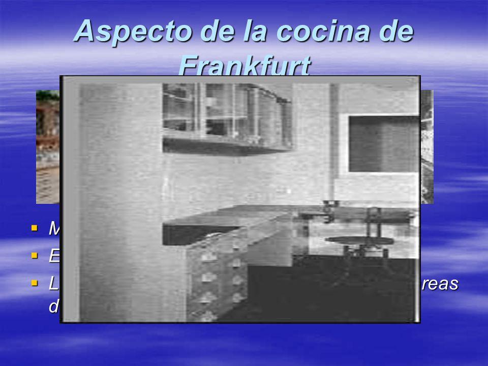 Aspecto de la cocina de Frankfurt Mayor luminosidad. Mayor luminosidad. El espacio está mejor aprovechado. El espacio está mejor aprovechado. La ampli