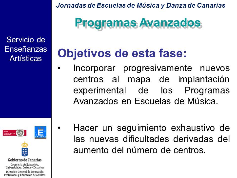 Servicio de Enseñanzas Artísticas Implantación del Programa con carácter experimental: Segunda fase: Curso 07 - 08 Jornadas de Escuelas de Música y Da