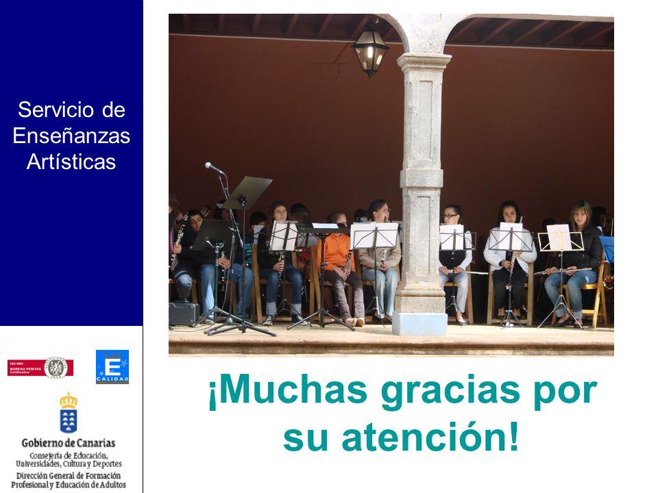 Servicio de Enseñanzas Artísticas Programas Avanzados Criterios de selección de nuevas Escuelas: –Situación geográfica: Gran Canaria: zona norte Tener