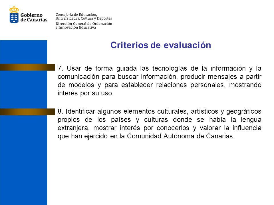 7. Usar de forma guiada las tecnologías de la información y la comunicación para buscar información, producir mensajes a partir de modelos y para esta