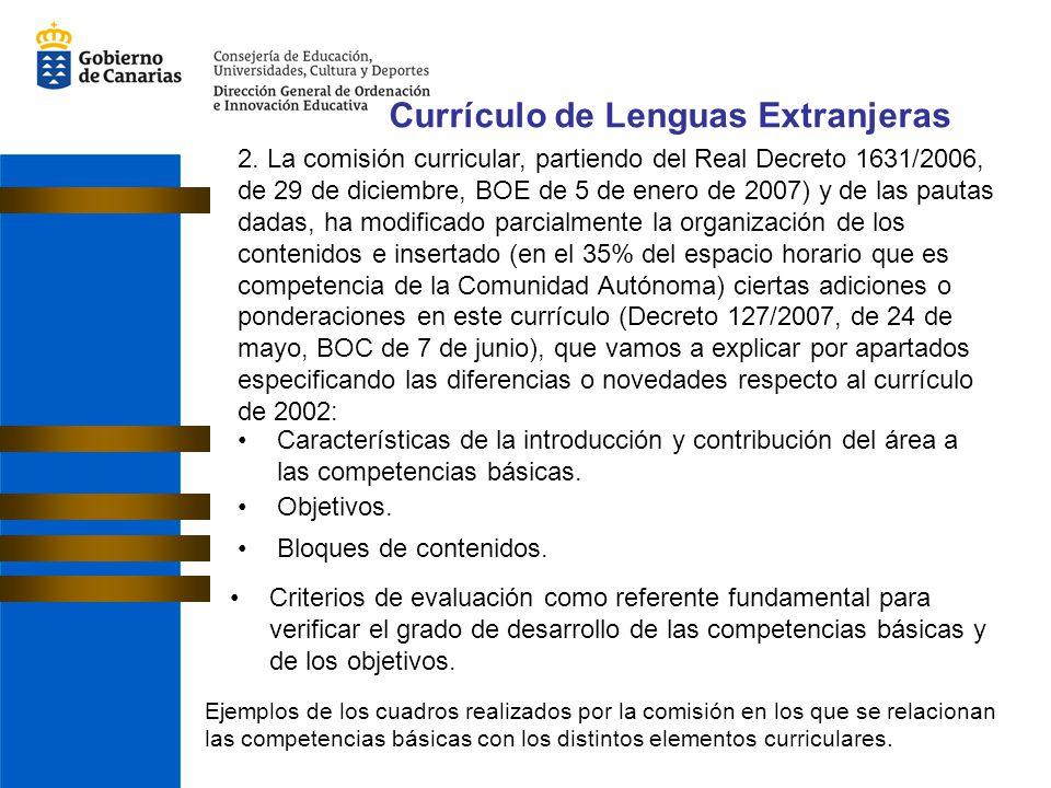 Características de la introducción y contribución del área a las competencias básicas. Objetivos. Bloques de contenidos. Criterios de evaluación como