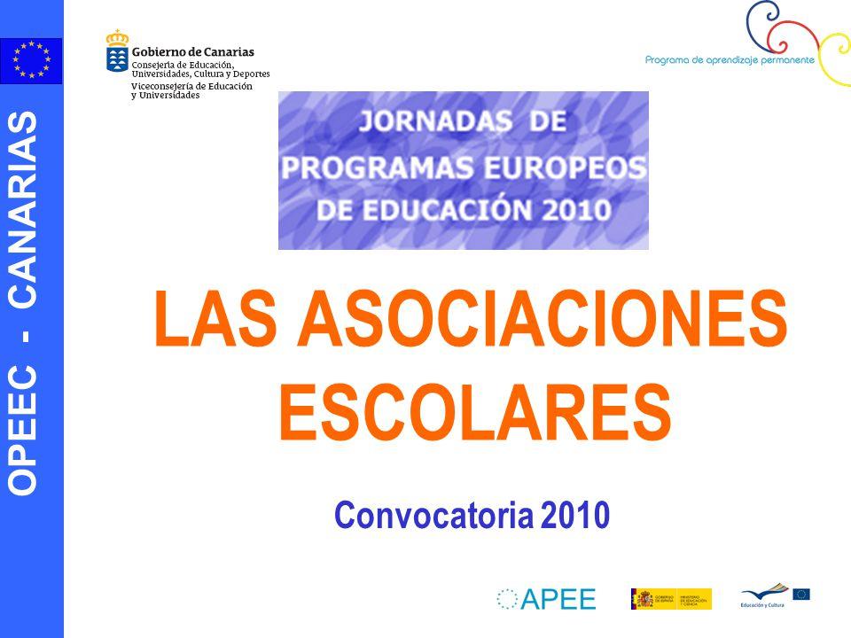 OPEEC - CANARIAS LAS ASOCIACIONES ESCOLARES Convocatoria 2010