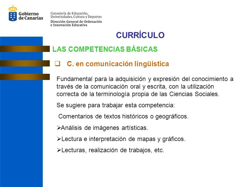 CURRÍCULO LAS COMPETENCIAS BÁSICAS C.