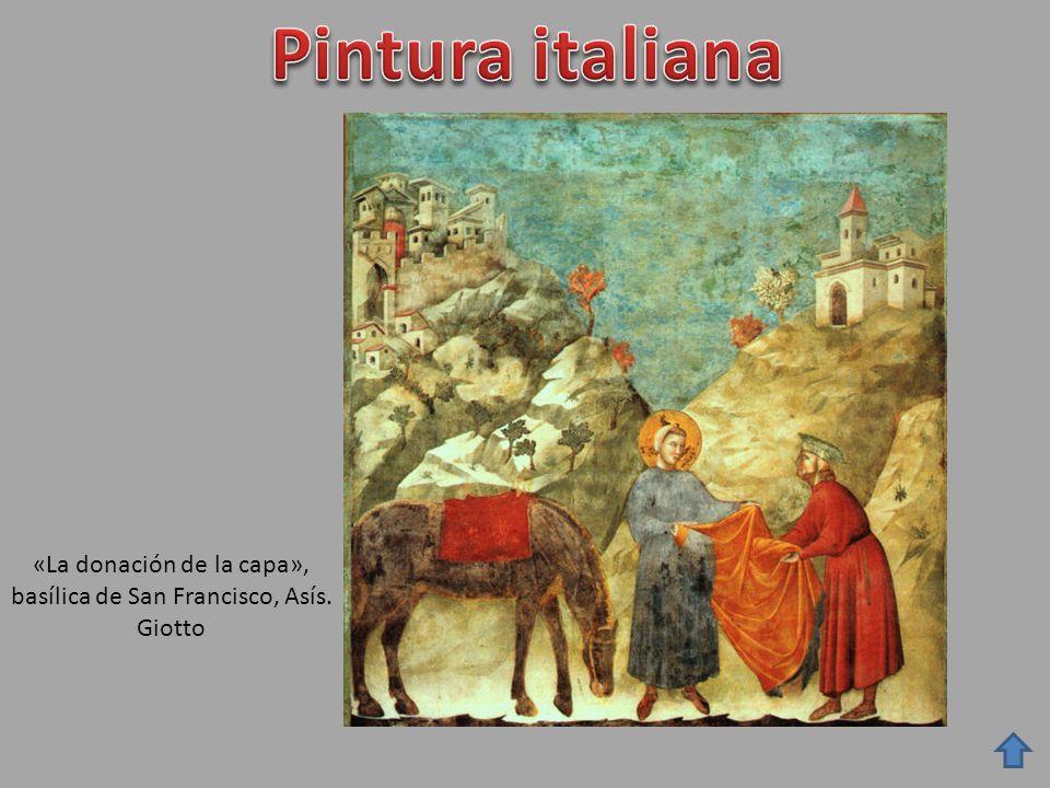«La donación de la capa», basílica de San Francisco, Asís. Giotto
