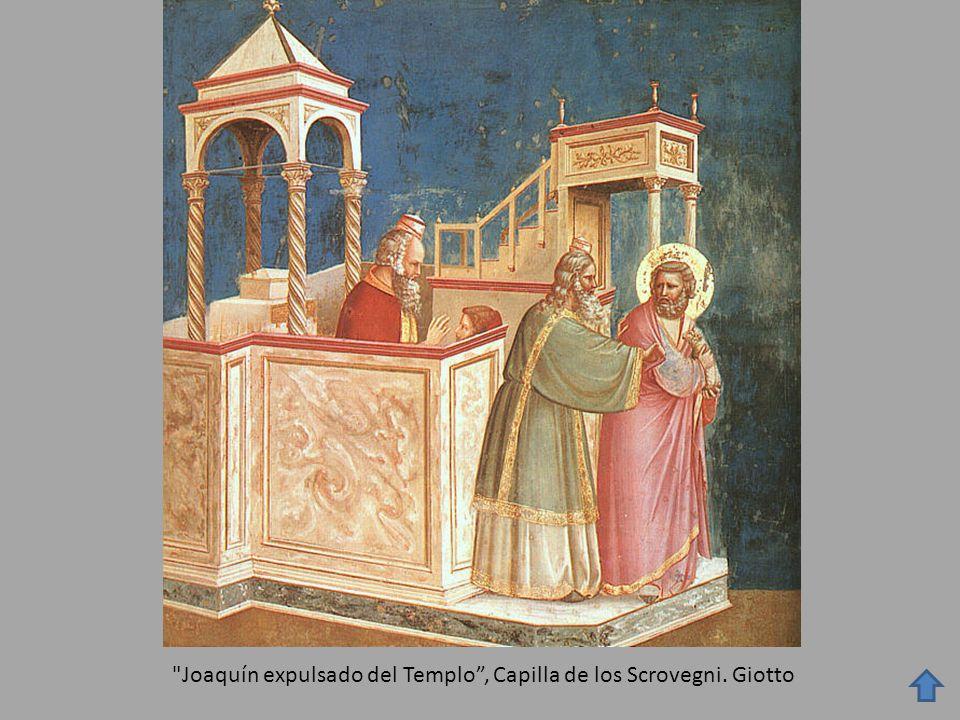 Joaquín expulsado del Templo, Capilla de los Scrovegni. Giotto