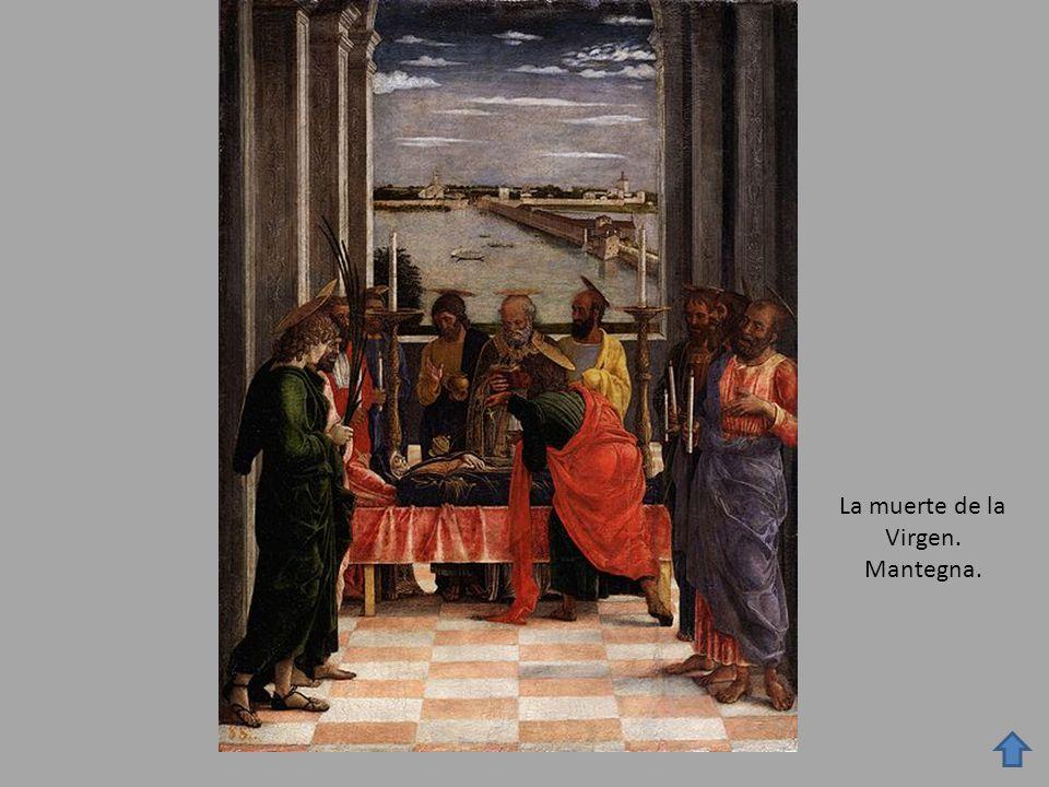 La muerte de la Virgen. Mantegna.