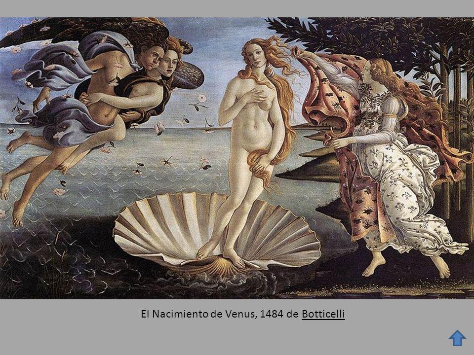 El Nacimiento de Venus, 1484 de Botticelli