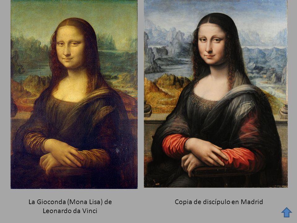 La Gioconda (Mona Lisa) de Leonardo da Vinci Copia de discípulo en Madrid