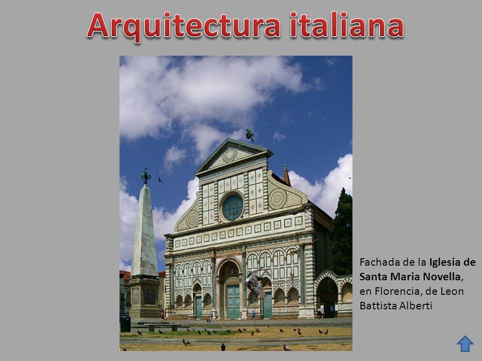 Fachada de la Iglesia de Santa Maria Novella, en Florencia, de Leon Battista Alberti