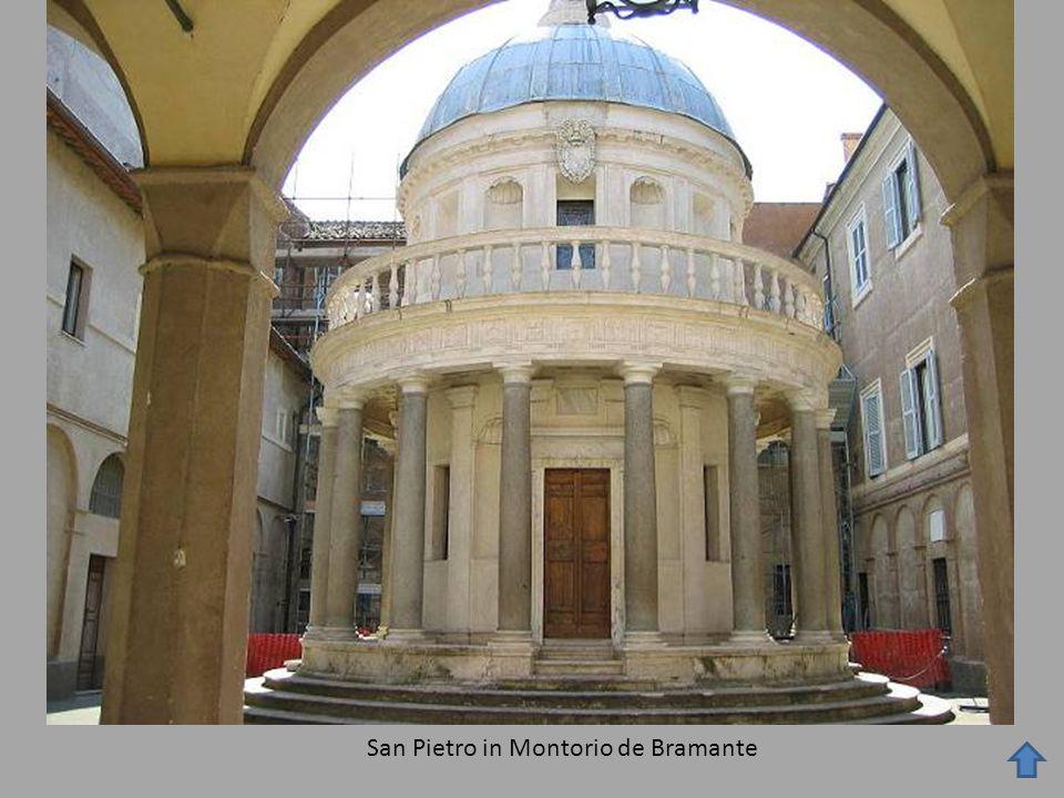Frontón Pilastras adosadas a muro Tondo de Andrea della Robbia.