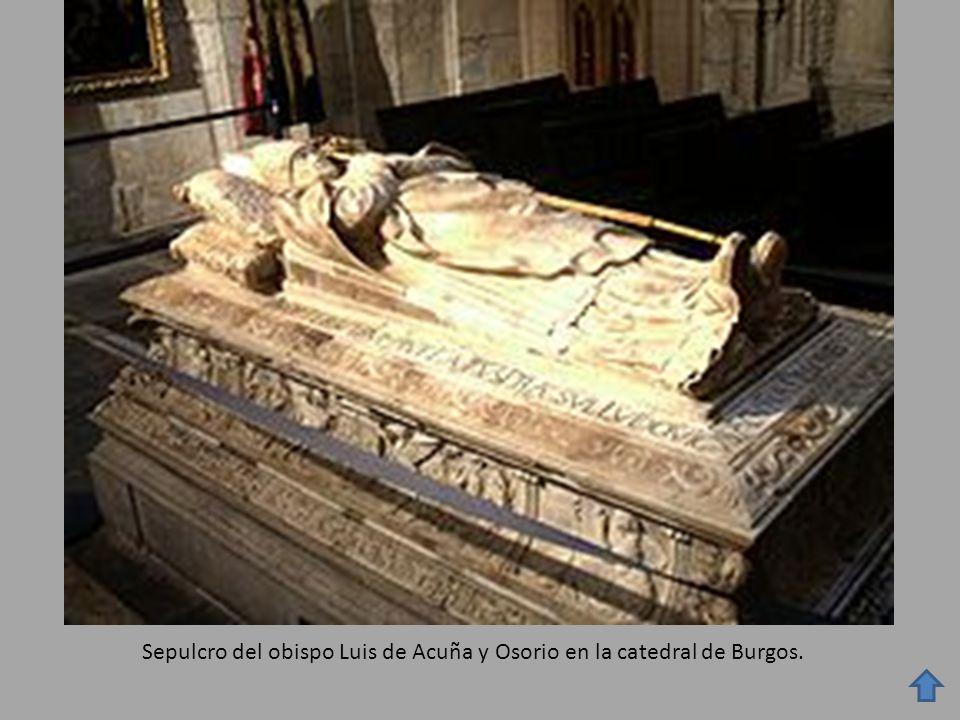 Sepulcro del obispo Luis de Acuña y Osorio en la catedral de Burgos.