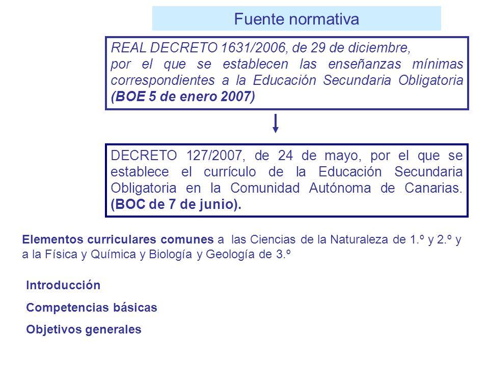 DECRETO 127/2007, de 24 de mayo, por el que se establece el currículo de la Educación Secundaria Obligatoria en la Comunidad Autónoma de Canarias. (BO