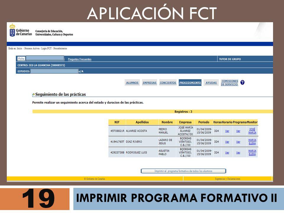 19 APLICACIÓN FCT IMPRIMIR PROGRAMA FORMATIVO II