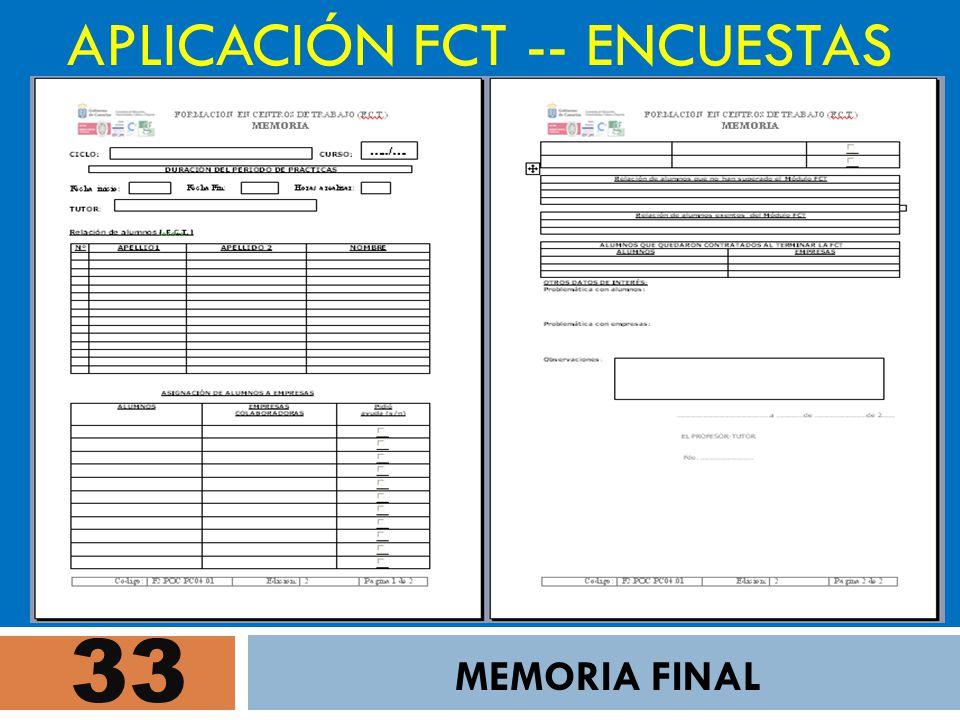 33 APLICACIÓN FCT -- ENCUESTAS MEMORIA FINAL