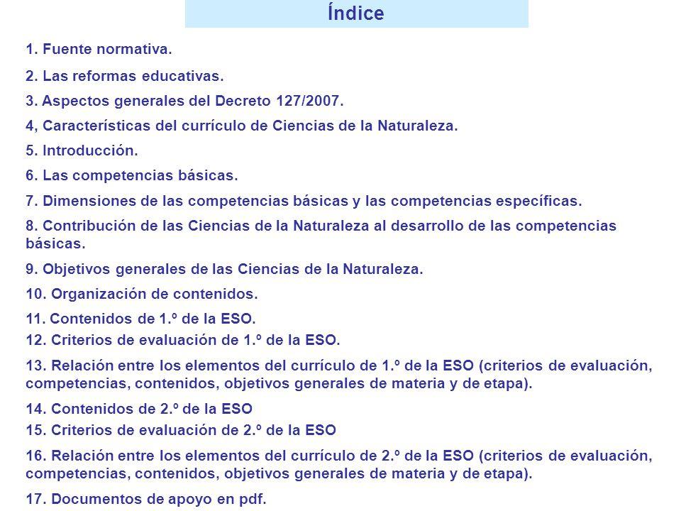RELACIÓN ENTRE LOS ELEMENTOS DEL CURRÍCULO DE 1º CRITERIOS DE EVALUACIÓN COMPETENCIASCONTENIDOSOBJETIVOS DE MATERIA OBJETIVOS DE ETAPA N.º 8: Explicar, a partir del conocimiento de las propiedades del agua… N.º 3 N.º 5 N.º 1 N.º 8 N.º 7 BLOQUE III 2 La hidrosfera 178178 ghijlghijl