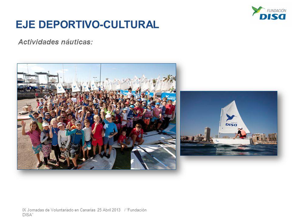 EJE DEPORTIVO-CULTURAL Actividades náuticas: IX Jornadas de Voluntariado en Canarias 25 Abril 2013 / Fundación DISA