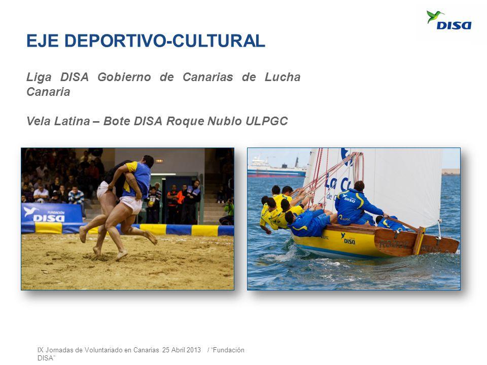 Liga DISA Gobierno de Canarias de Lucha Canaria Vela Latina – Bote DISA Roque Nublo ULPGC EJE DEPORTIVO-CULTURAL IX Jornadas de Voluntariado en Canari
