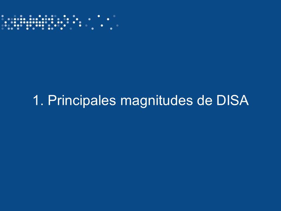 Identificación del autor/ título de la presentación3 1. Principales magnitudes de DISA