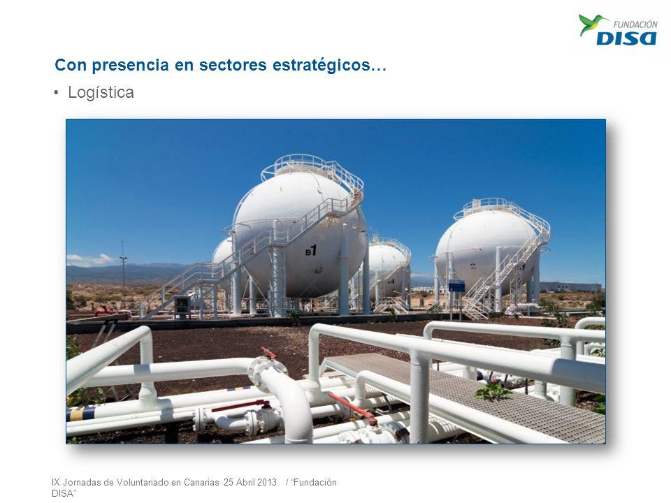 Con presencia en sectores estratégicos… Logística IX Jornadas de Voluntariado en Canarias 25 Abril 2013 / Fundación DISA