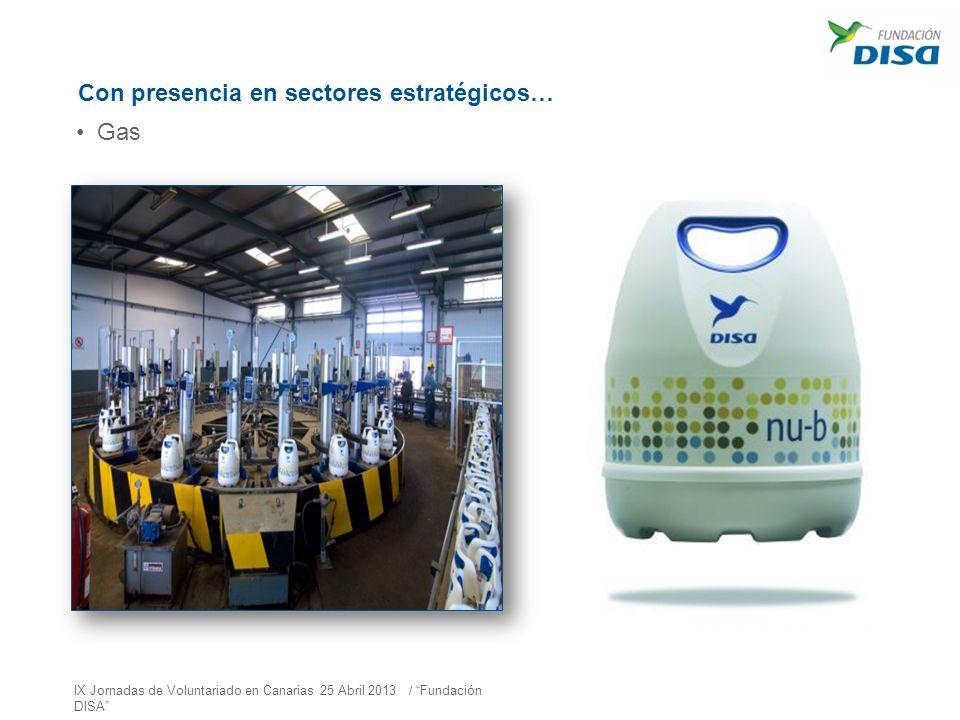 Con presencia en sectores estratégicos… Gas IX Jornadas de Voluntariado en Canarias 25 Abril 2013 / Fundación DISA