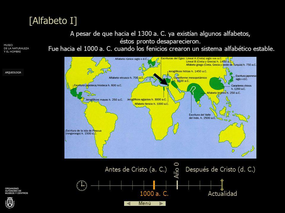 La Piedra de Rosetta (s. II a. C.) Fue descubierta en 1799 en el delta del Nilo. Contiene 3 escrituras distintas: jeroglífico, demótico –forma derivad