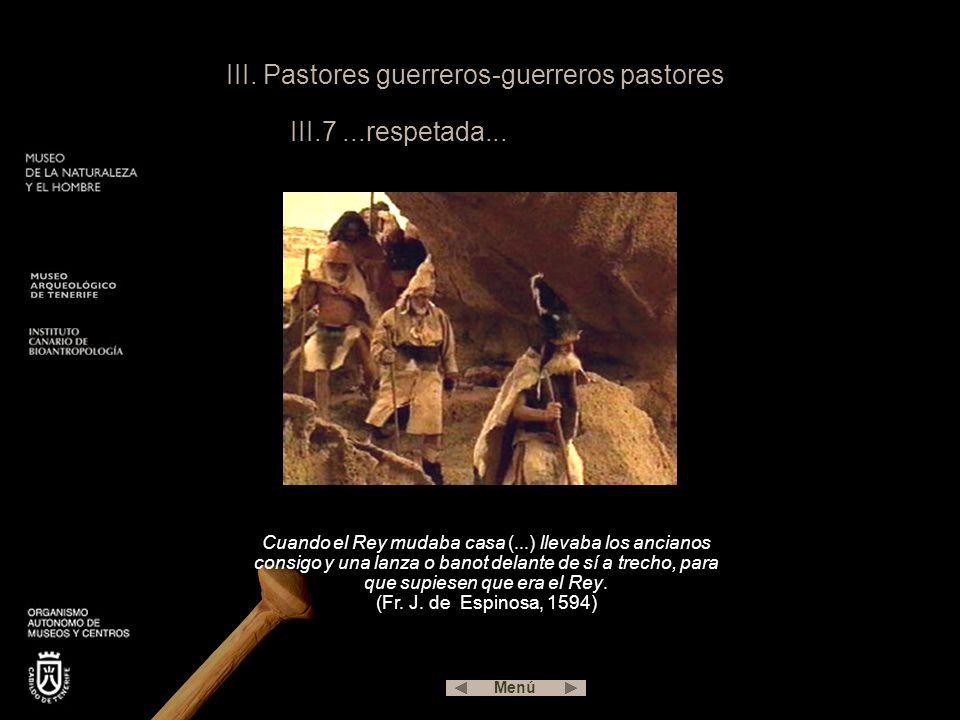III.Pastores guerreros-guerreros pastores III.7...respetada...