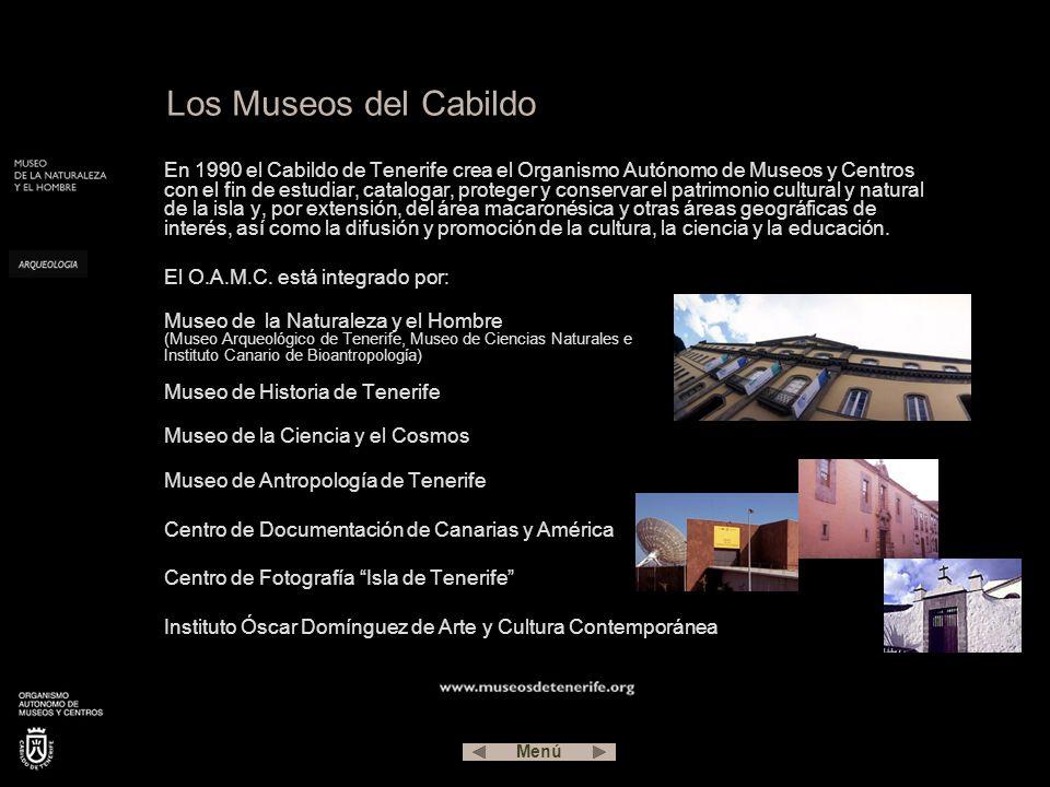 En 1990 el Cabildo de Tenerife crea el Organismo Autónomo de Museos y Centros con el fin de estudiar, catalogar, proteger y conservar el patrimonio cultural y natural de la isla y, por extensión, del área macaronésica y otras áreas geográficas de interés, así como la difusión y promoción de la cultura, la ciencia y la educación.