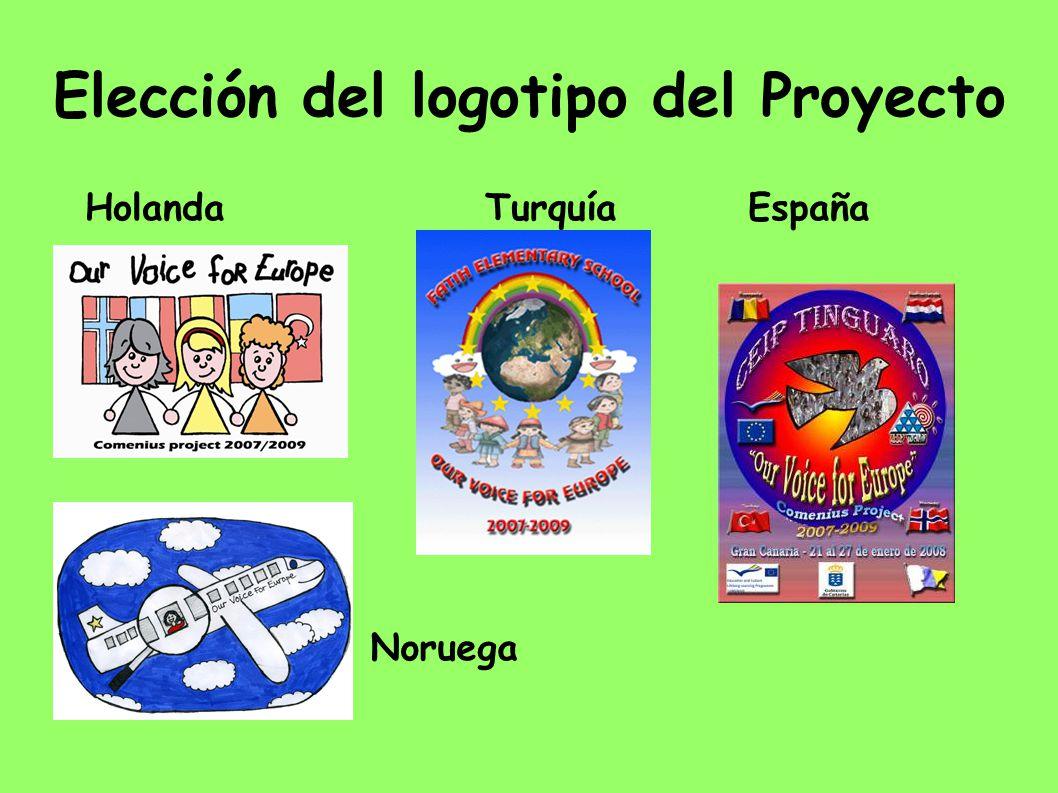 Elección del logotipo del Proyecto Holanda Turquía España Noruega