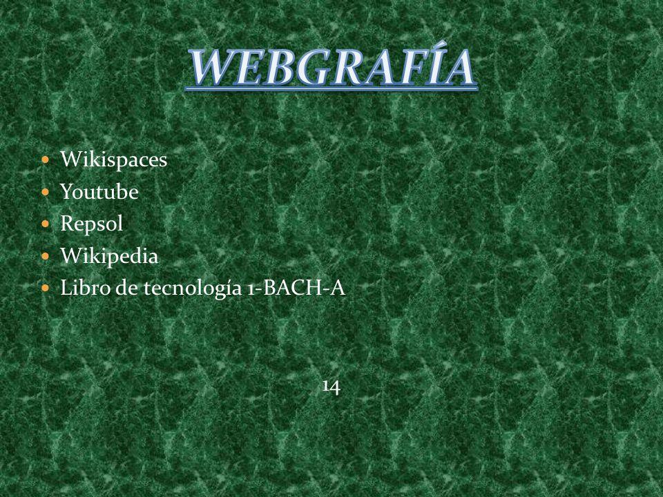 Wikispaces Youtube Repsol Wikipedia Libro de tecnología 1-BACH-A 14