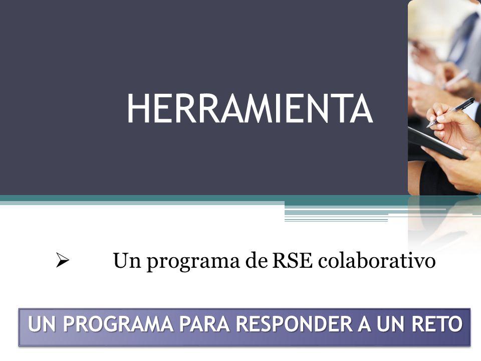 HERRAMIENTA Un programa de RSE colaborativo UN PROGRAMA PARA RESPONDER A UN RETO