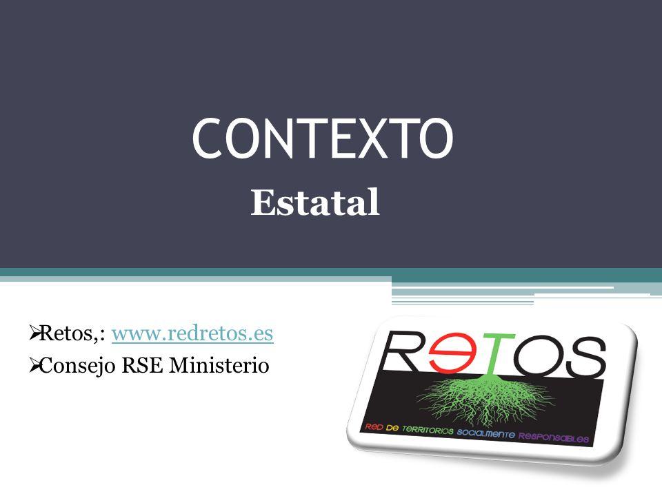CONTEXTO Retos,: www.redretos.eswww.redretos.es Consejo RSE Ministerio Estatal