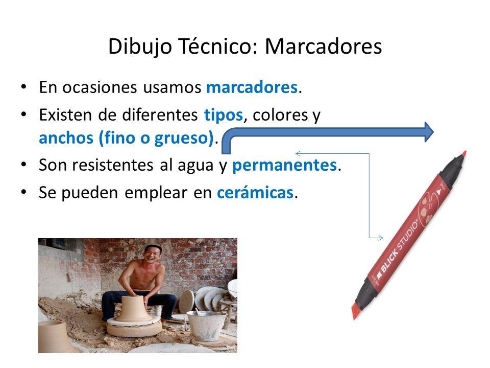 Dibujo Técnico: Gomas o borradores Existen diferentes tipos de gomas.
